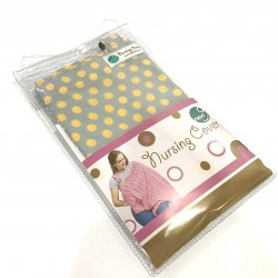 Next9 Nursing Covers - Grey and Mustard Dots