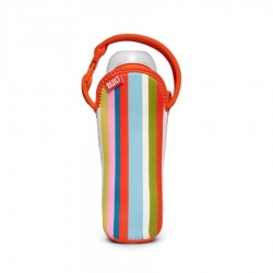 BUILT NY One Bottle Tote - Baby Pink Stripes
