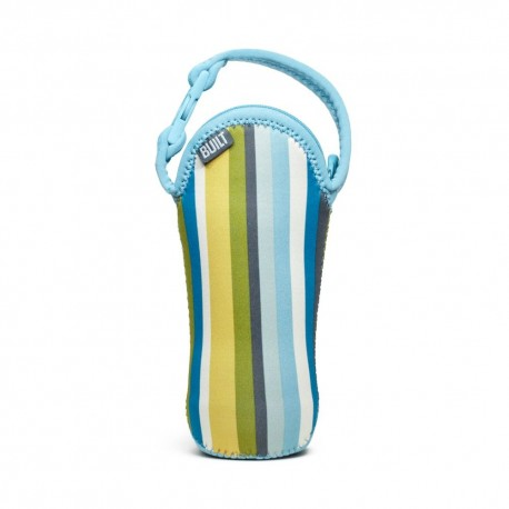 BUILT NY One Bottle Tote - Baby Blue Stripes