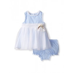 Laura Ashley Girl's Chambray & Tulle Dress