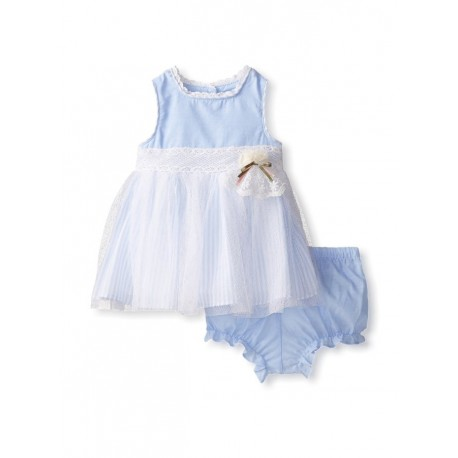 Laura Ashely Girl's Chambray & Tulle Dress