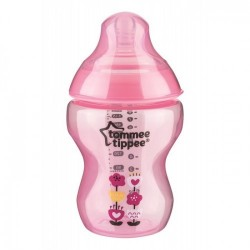Tommee Tippee Closer to Nature Tinted Bottle 9oz./260ml Pink