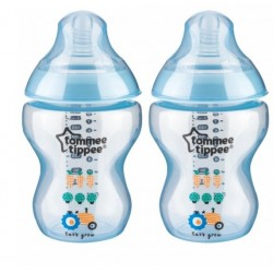 Tommee Tippee Closer to Nature Tinted Bottle Twin Pack Blue