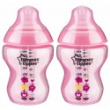 Tommee Tippee Closer to Nature Tinted Bottle Twin Pack Pink