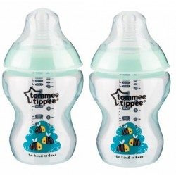 Tommee Tippee Closer to Nature Tinted Bottle Twin Pack Green
