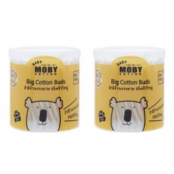 BABY MOBY BIG COTTON BUDS - Set of 2 Packs