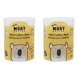 BABY MOBY MINI COTTON BUDS - Set of 2 Packs