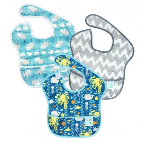 Bumkins Super Bib 3pc Set - Sea