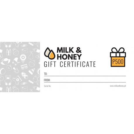 Milk & Honey Gift Certificate - P500.00
