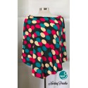 Next9 Nursing Poncho - Black Multi Circles