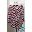 Next9 Nursing Poncho - Multi Color Squares