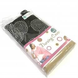 Next9 Nursing Covers - White Circles on Black