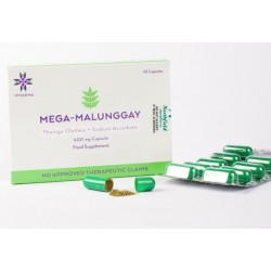 MEGA-MALUNGGAY 500mg Moringa Oleifera + 100mg Non Acidic Vitamin C - Box of 10