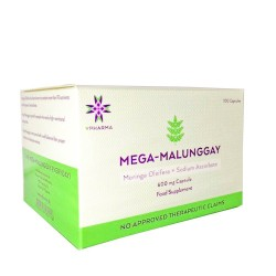 MEGA-MALUNGGAY 500mg Moringa Oleifera + 100mg Non Acidic Vitamin C - Box of 100
