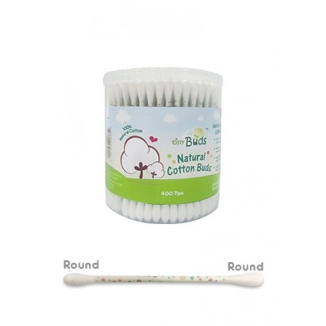 Tiny Buds Regular Natural Cotton Buds (400 Tips)