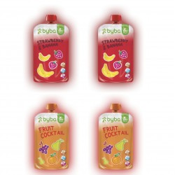 Byba Fruit Pouch Combo (4 Pouches)