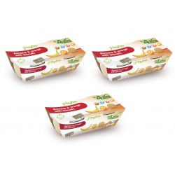 Byba Banana and Orange with Biscuits 2x200G (Pack of 3)