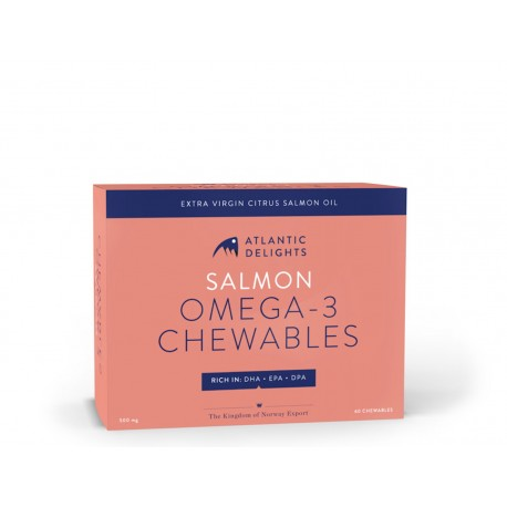 Salmon Omega-3 Chewables (30 tablets)