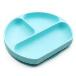 Bumkins Grip Dish - Light Blue