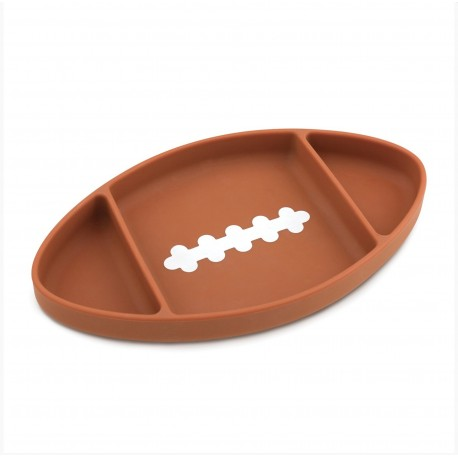 Bumkins Silicone Grip Dish - Football