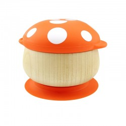 Haakaa Wooden Mushroom Bowl - Orange