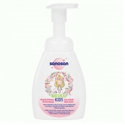 Sanosan Natural Kids Wash Foam-Girls 250ml