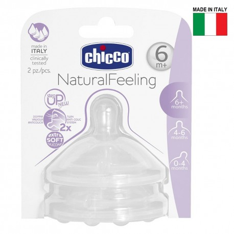 Chicco Natural Feel Teat 6m+ Fast Flow 2pcs