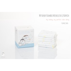 My Handy Bamboo Washcloth & Napkin (6pcs) - White
