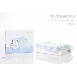 My Favorite Bamboo Muslin (4pcs) - Blue