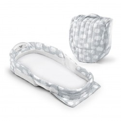 Snuggle Nest Harmony Infant Sleeper - Silver Clouds