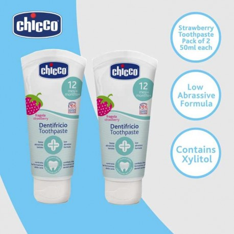 Chicco D-Strawberry Toothpaste Bundle Pack