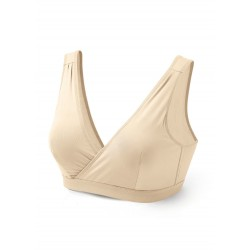 Mamaway Nano Red Crossover Maternity and Nursing Bra - Nude