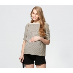 Mamaway Nursing Top - Cream/Black