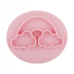 Silicone Placemat Bowl - Pink