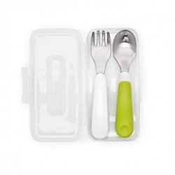Oxo Tot On the Go Fork and Spoon Set (w/ Travel Case)