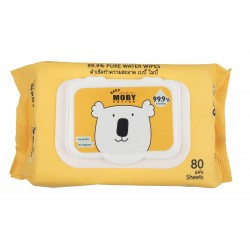 BABY MOBY WATER WIPES (with cover) - 80 Pulls