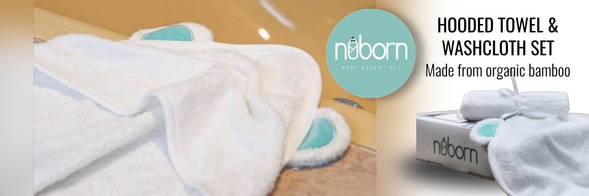NuBorn Bamboo Hooded Towel and Washcloth